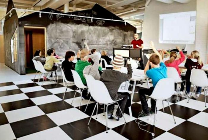 Учебный класс в одной из школ Стокгольма.