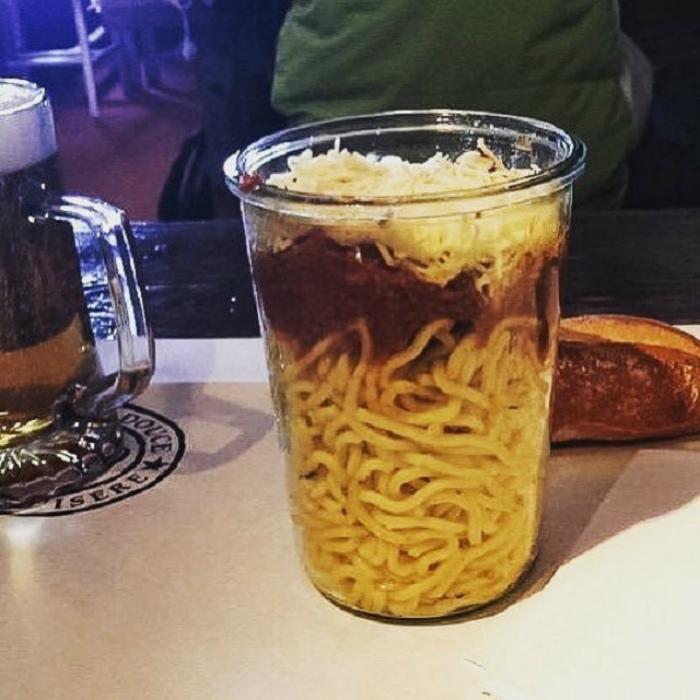 Паста в стаканчике. | Фото: Триникси.