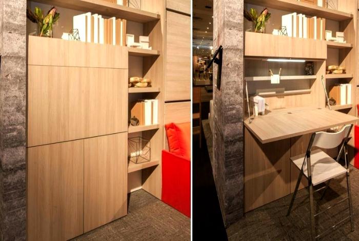 Шкаф со скрытыми функциями. | Фото: Curso de Marcenaria.