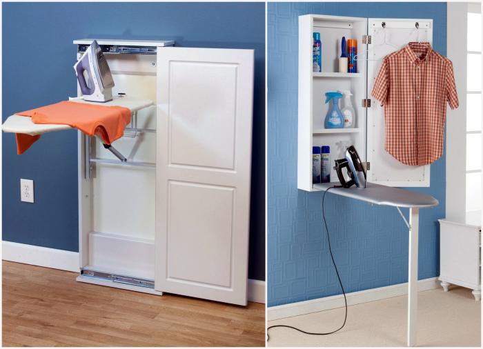 Шкафчик с откидной гладильной доской.