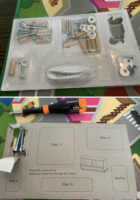 Набор деталей для сборки мебели. | Фото: Tumbex.