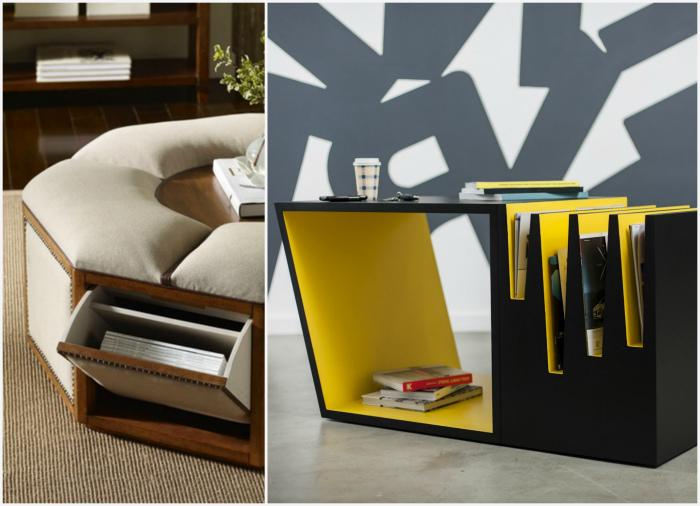 Функциональные предметы мебели. | Фото: Projecthamad, Norwood Furniture.