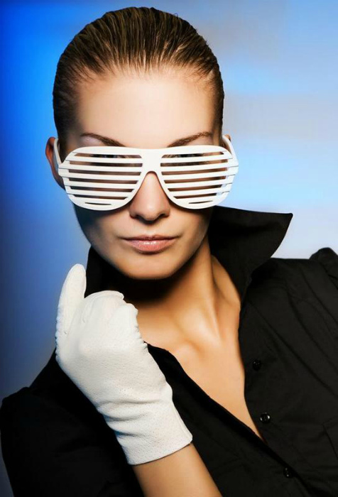 Имиджевые очки-жалюзи. | Фото: Шафа.