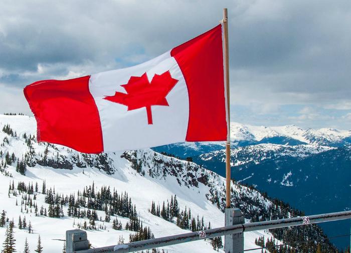 Холодная, заснеженная Канада.
