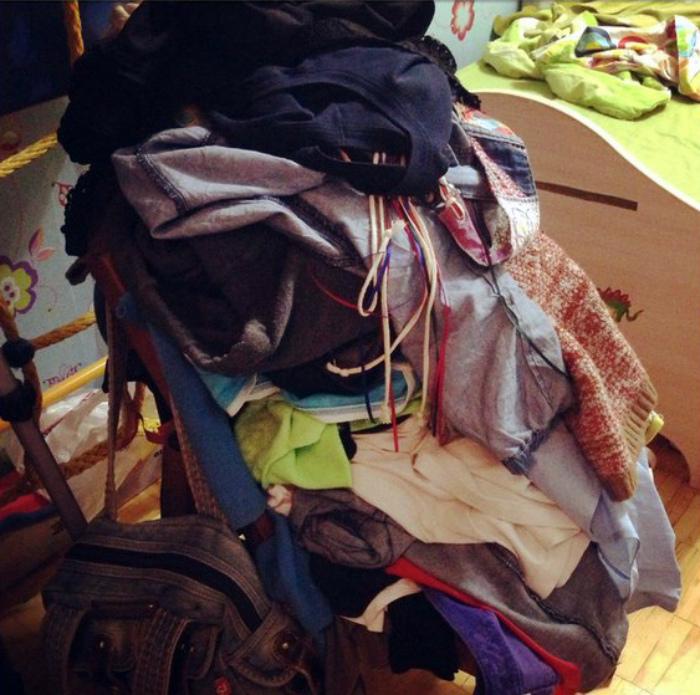 Точки сбора одежды.