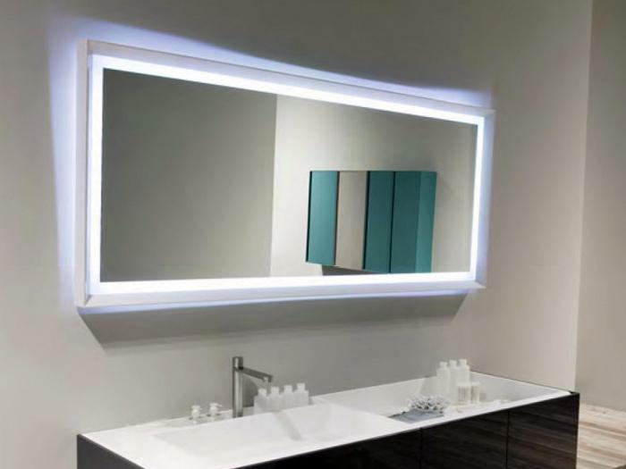 Зеркало с подсветкой и подогревом.
