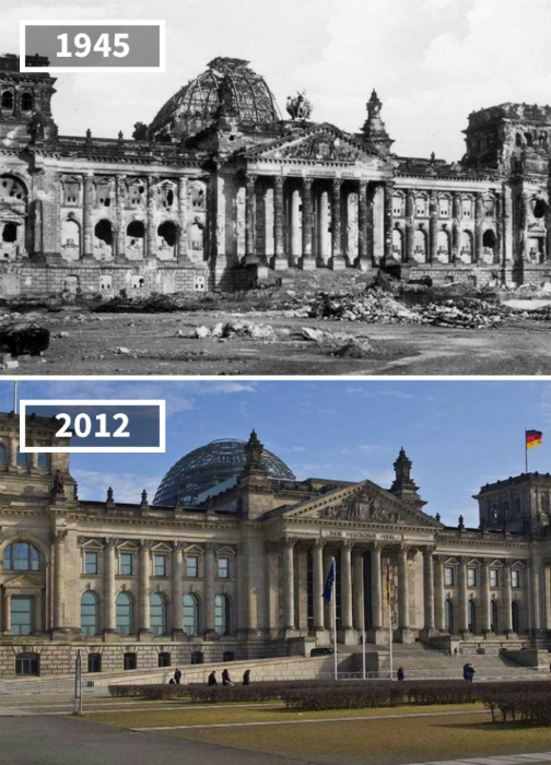 Рейхстаг, Берлин, 1945 - 2012.