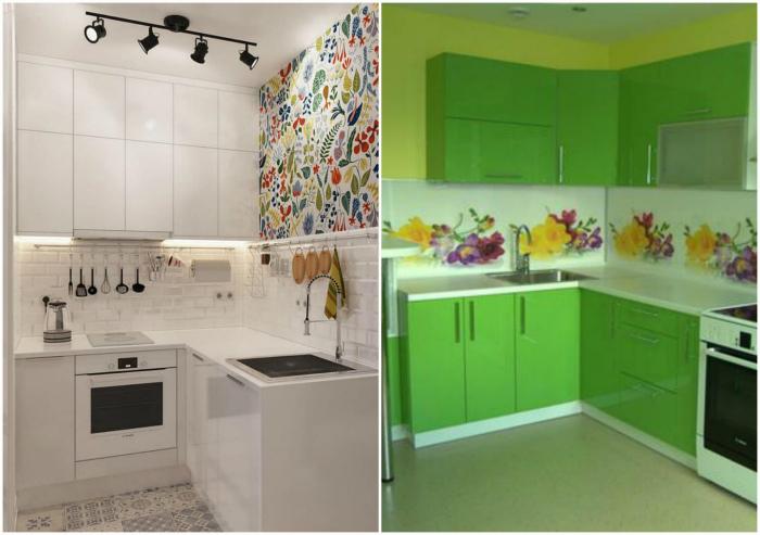 Кухонный гарнитур в цвет стен. | Фото: Мебель Альфа.