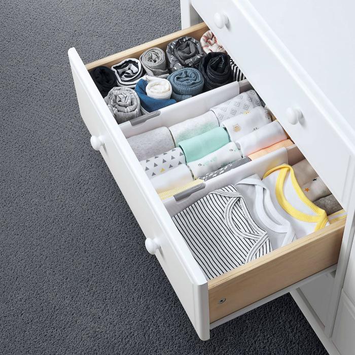 Перегородки в ящиках. | Фото: Pinterest.
