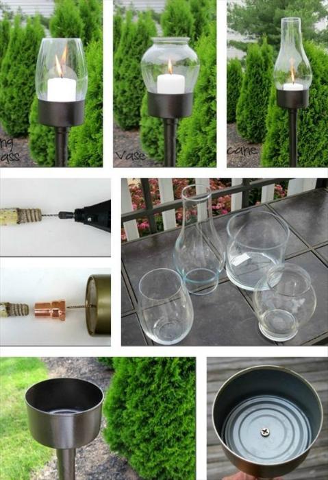 Романтичные садовые светильники.