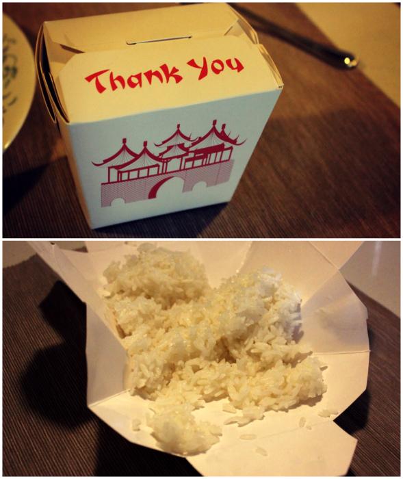 Хитрая особенность коробочки с китайской едой.