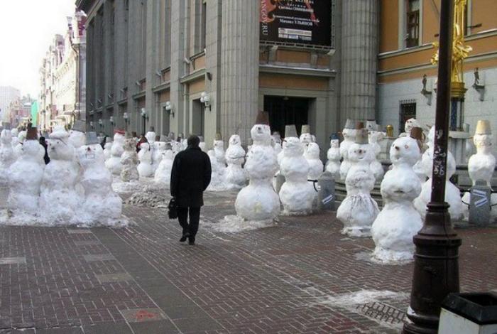 Армия снеговиков.