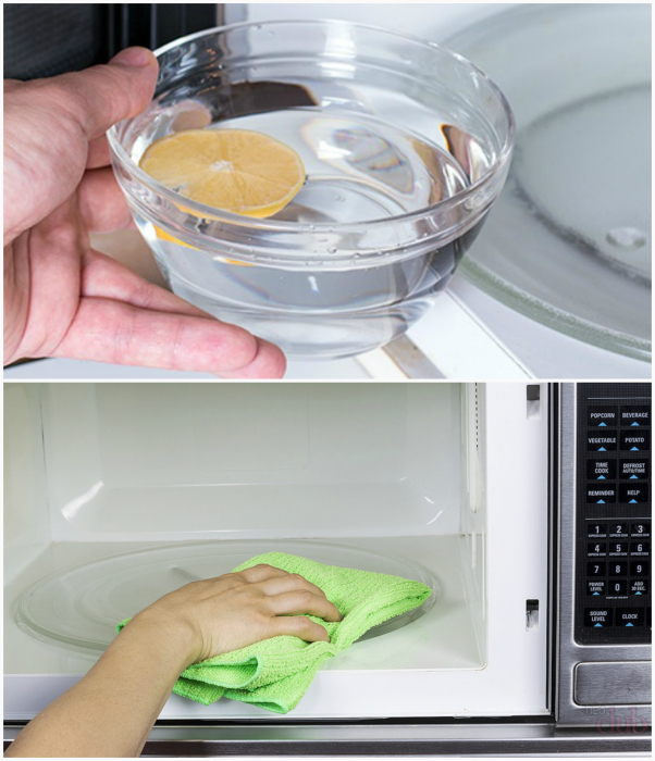 Качественная чистка микроволновки.