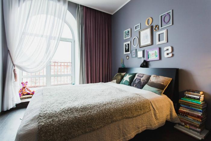 Светлые хлопковые шторы. | Фото: Design-homes.ru.