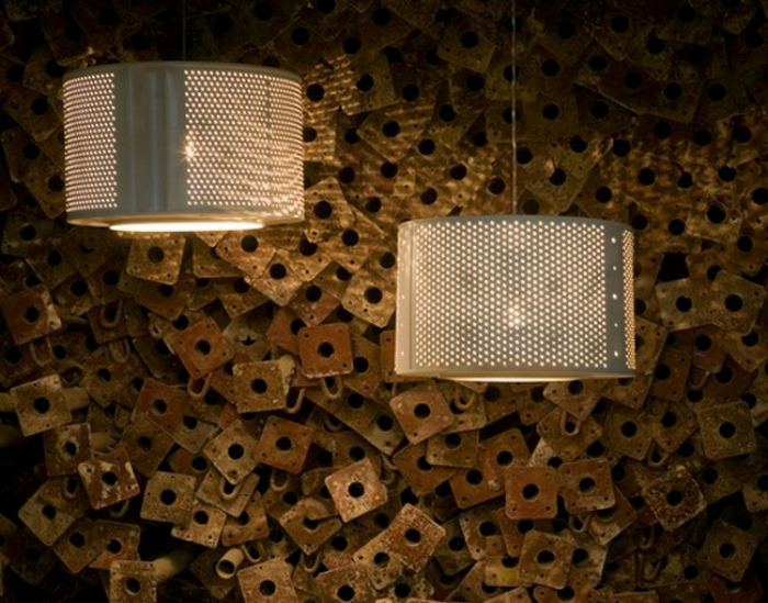 Люстры из металлических барабанов стиральных машин.