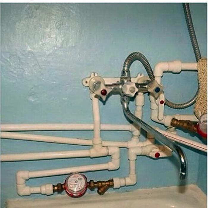 Запутанная система водоснабжения.