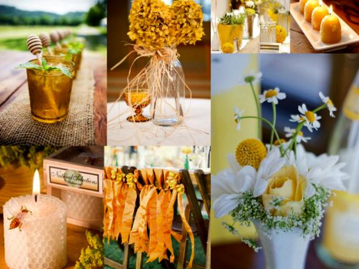 Выделите основной цвет мероприятия (например, желтый), украсьте помещение, приготовьте закуски и напитки придерживаясь цветовой тематики. Не забудьте предупредить гостей о соответствующем дресс коде.