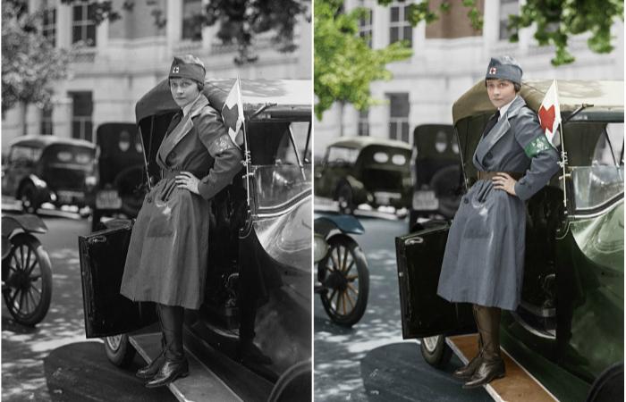 Старинные фотографии, которые приобрели яркие краски.