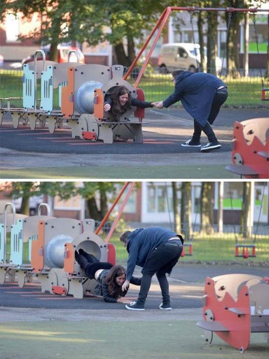 Novate.ru сообщает, на третий путь прибывает поезд со странной женщиной. | Фото: FromUA.NEWS.