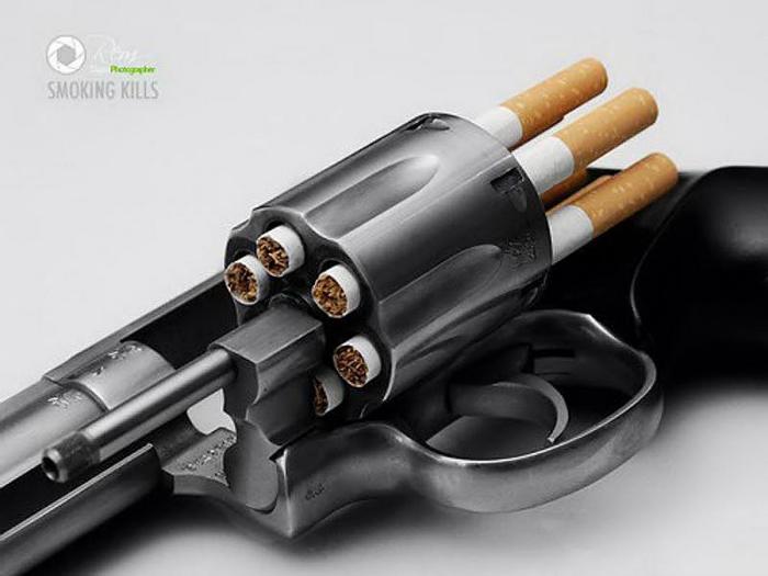 Каждая пачка сигарет – это заряженный револьвер.