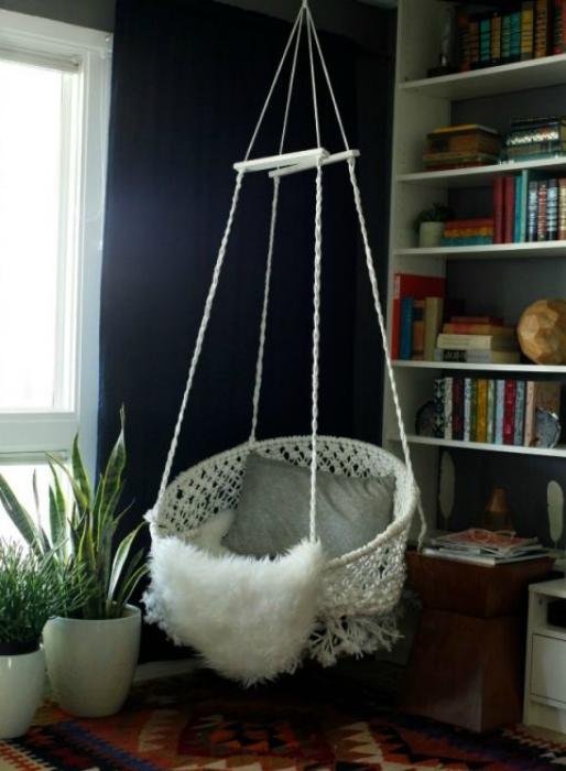 Самодельное подвесное кресло.
