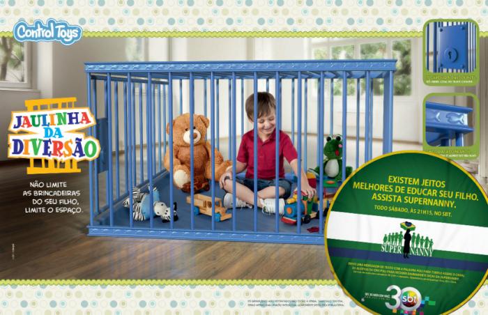 Разработчики этой клетки предлагают садить туда ребенка, чтобы он не баловался или не мешал родителям.
