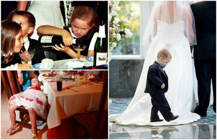 Дети, которые портят свадьбы.