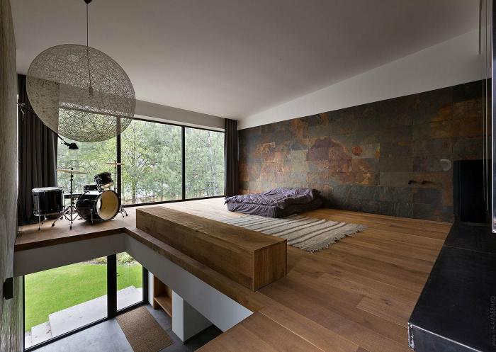 Атмосферная спальня в стиле минимализм.