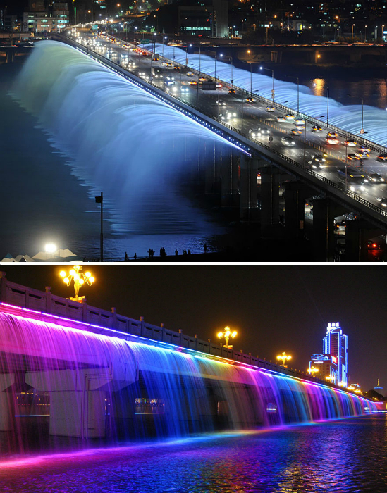 «Фонтан радуги» в Сеуле.