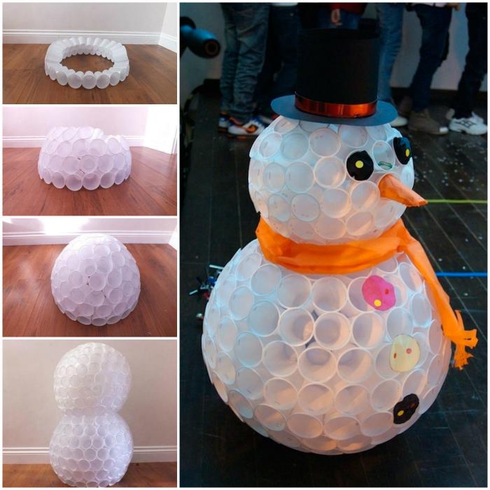 Объемный снеговик.