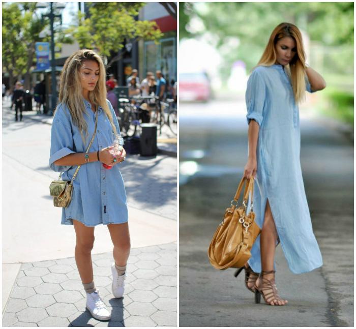 Ультрамодные платья-рубашки.