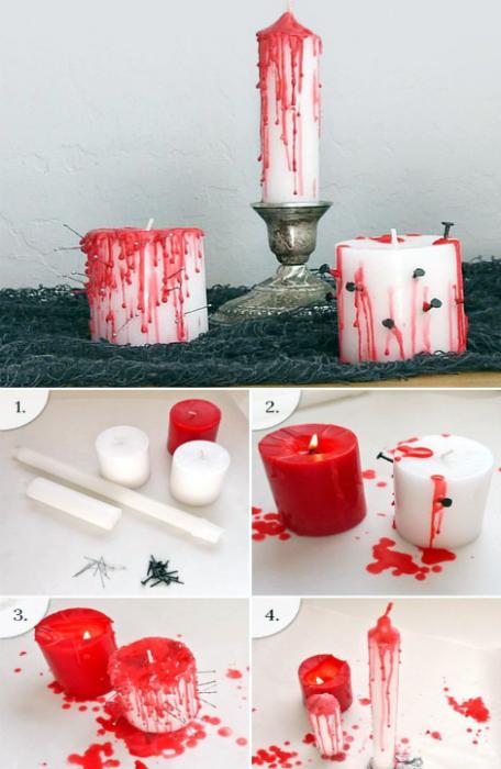 «Кровоточащие» свечи.