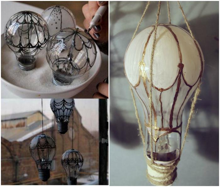 Воздушные шары из лампочек.