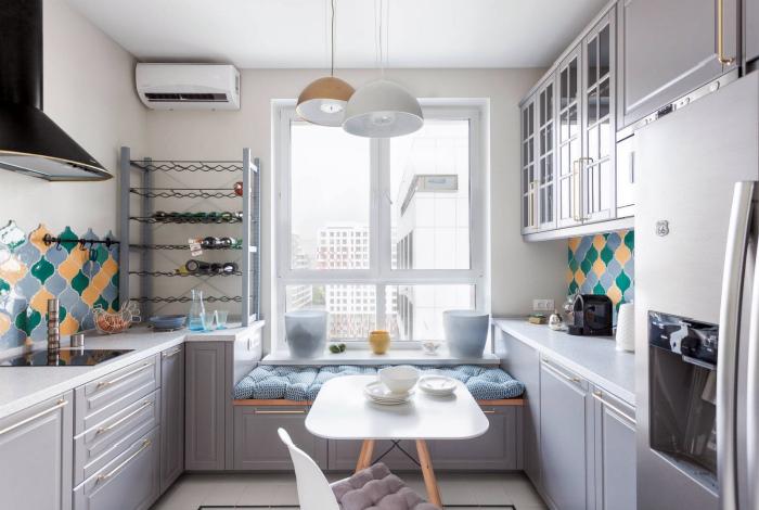 Светлая уютная кухня. | Фото: Design-homes.ru.