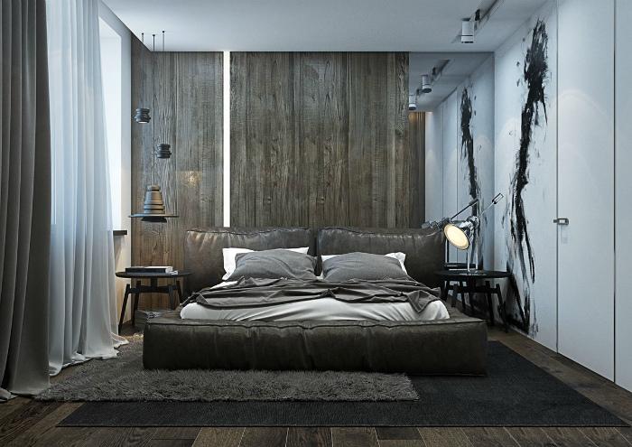 Атмосферная спальня в стиле модерн.