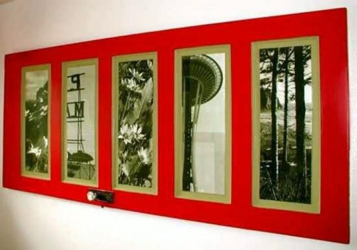 Рамка для фото из двери.