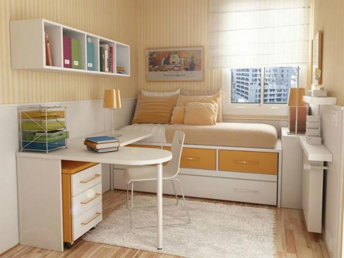 Правильная расстановка мебели.