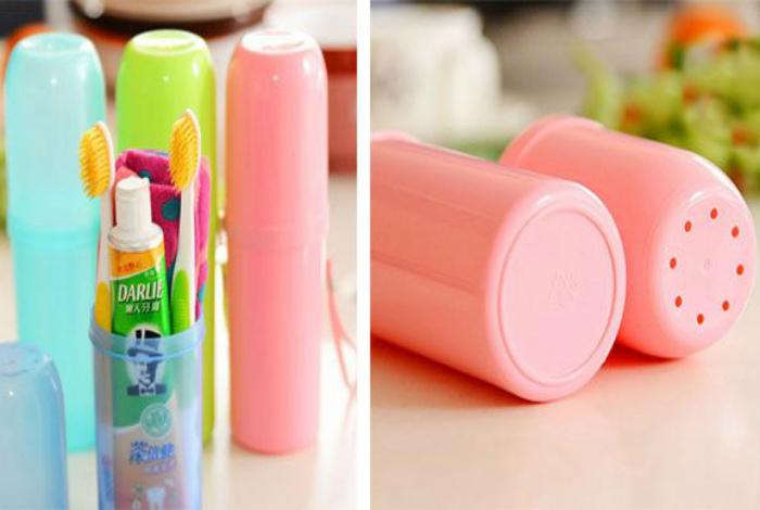 Футляр для зубной щетки. | Фото: Лайфхакер.