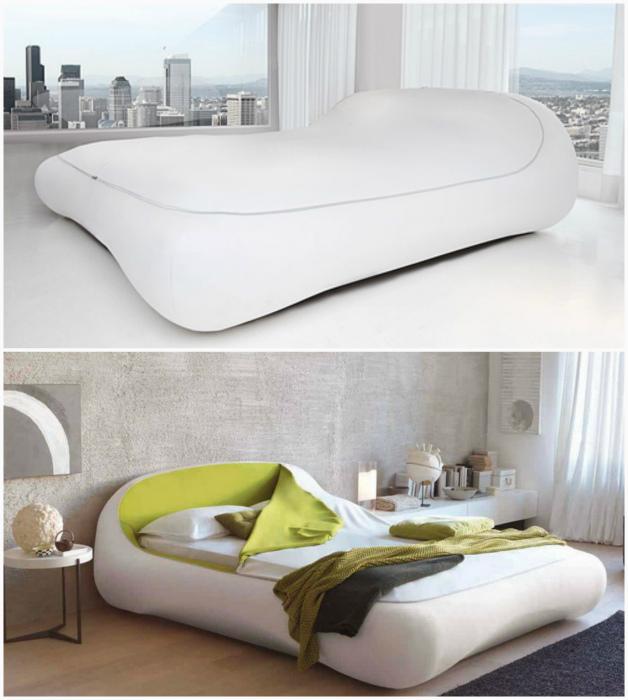 Кровать с застежкой. | Фото: Мебельный бизнес, Homy.