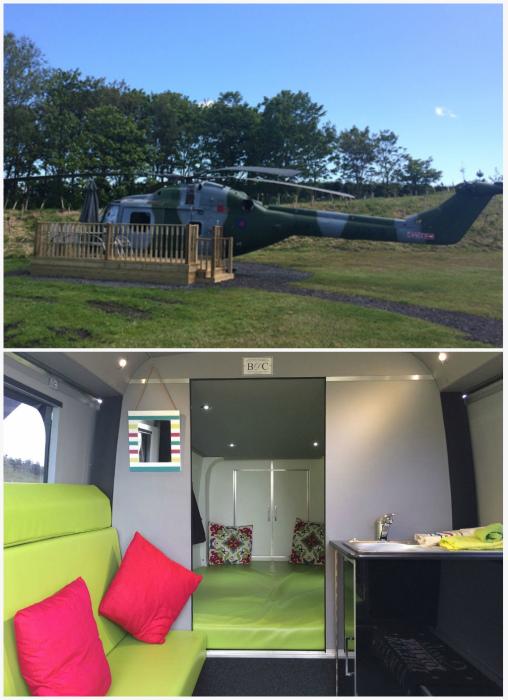 Гостевой дом в вертолете.