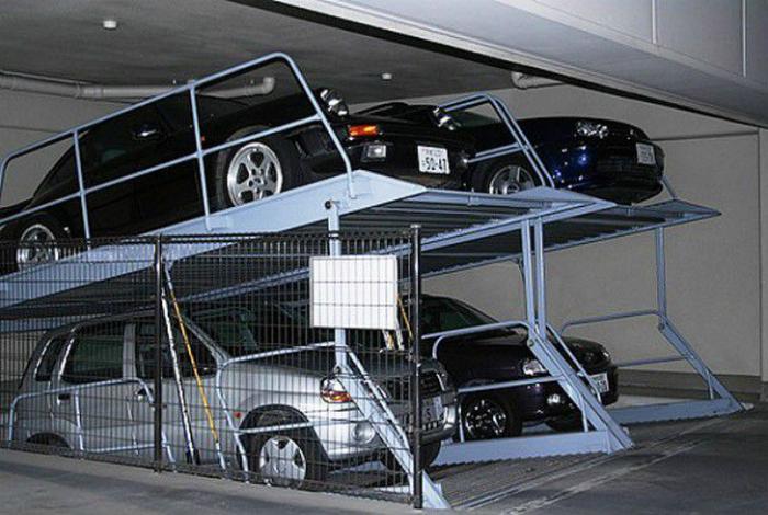 Двухъярусные мини-парковки.