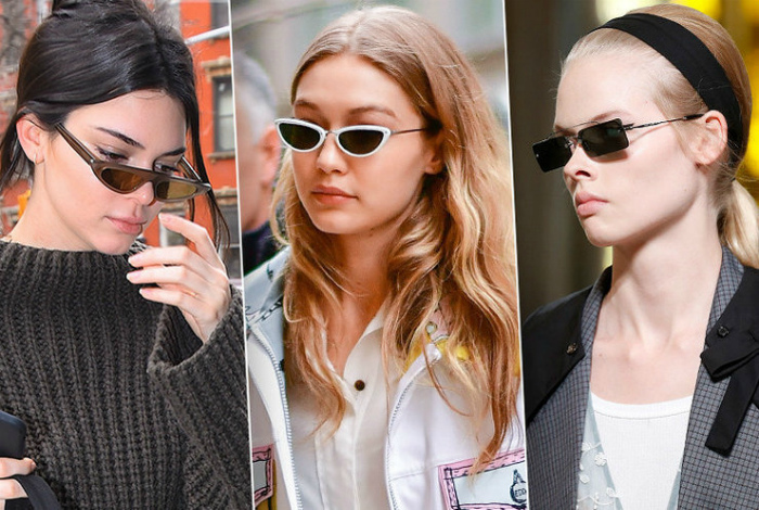 Узкие очки.| Фото: Cosmopolitan.