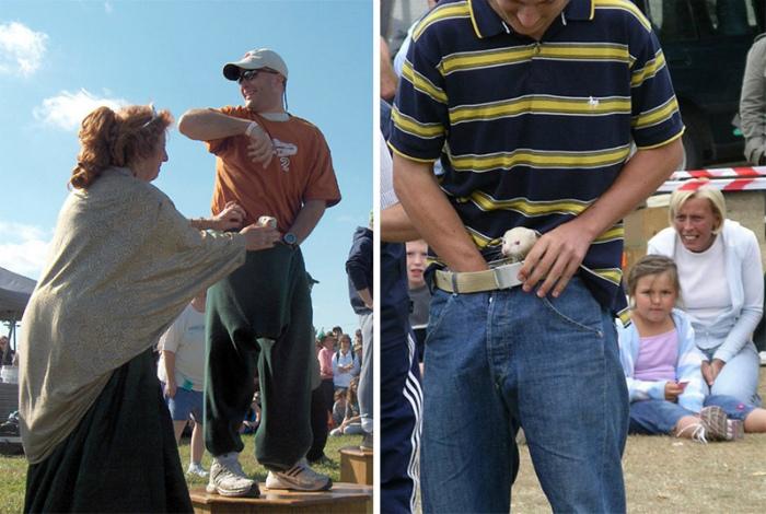 Состязание с хорьками в штанах. | Фото: monclernews.com.