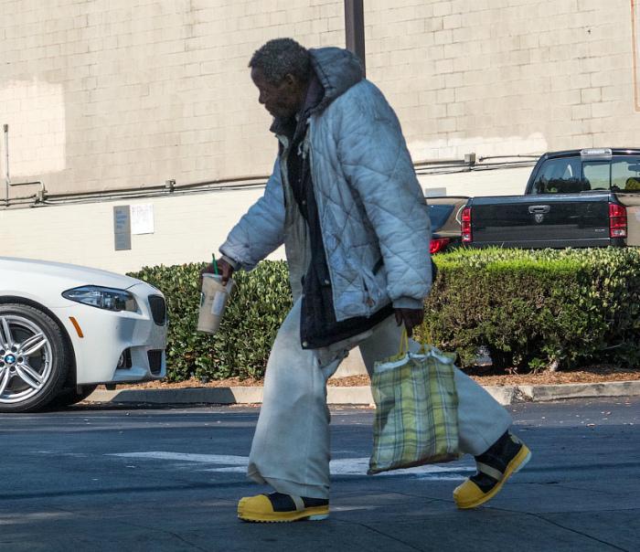 Бездомные в Америке.