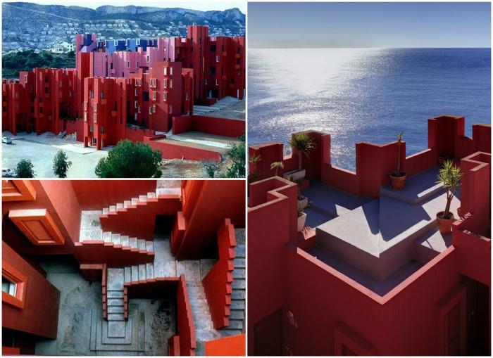Жилой комплекс «Красная стена», бухта Ла Манзанера, Испания.