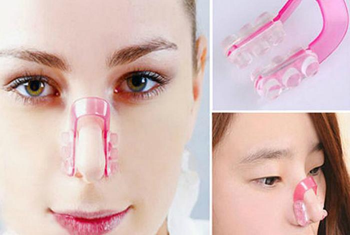 Приспособление, похожее на прищепку, которое при регулярном использовании поможет уменьшить нос.