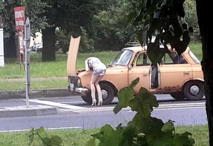 Ремонт машины.