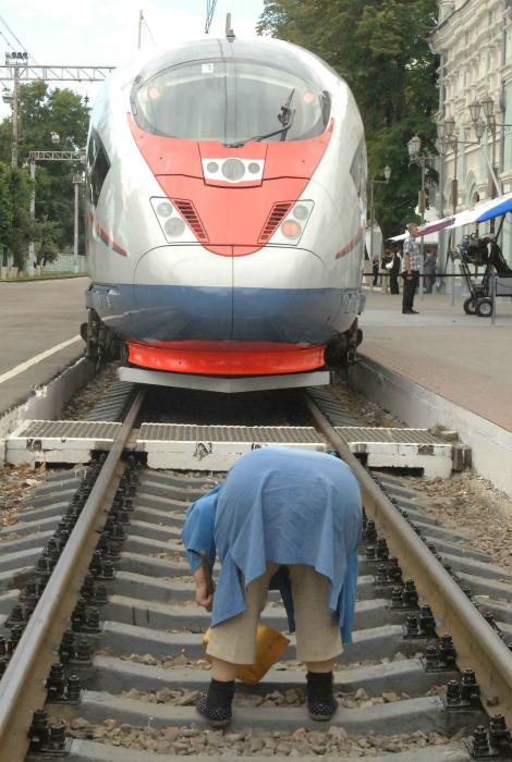 Пробка на железной дороге.