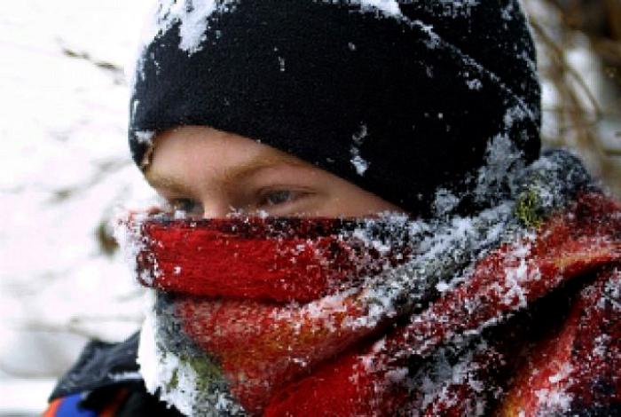 Правильное ношение шарфа в мороз.