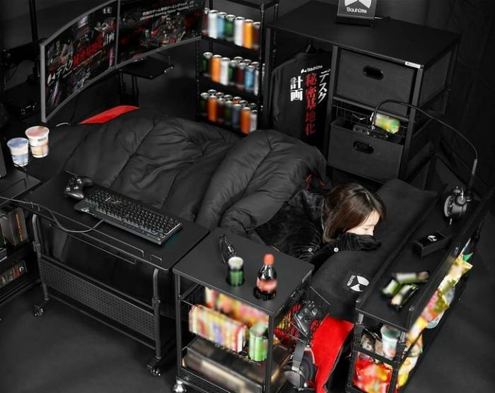 Идеальное спальное место для геймера. | Фото: uCrazy.ru.